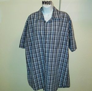 Nordstrom Mens Plaid Short Sleeve Buttondown Shirt